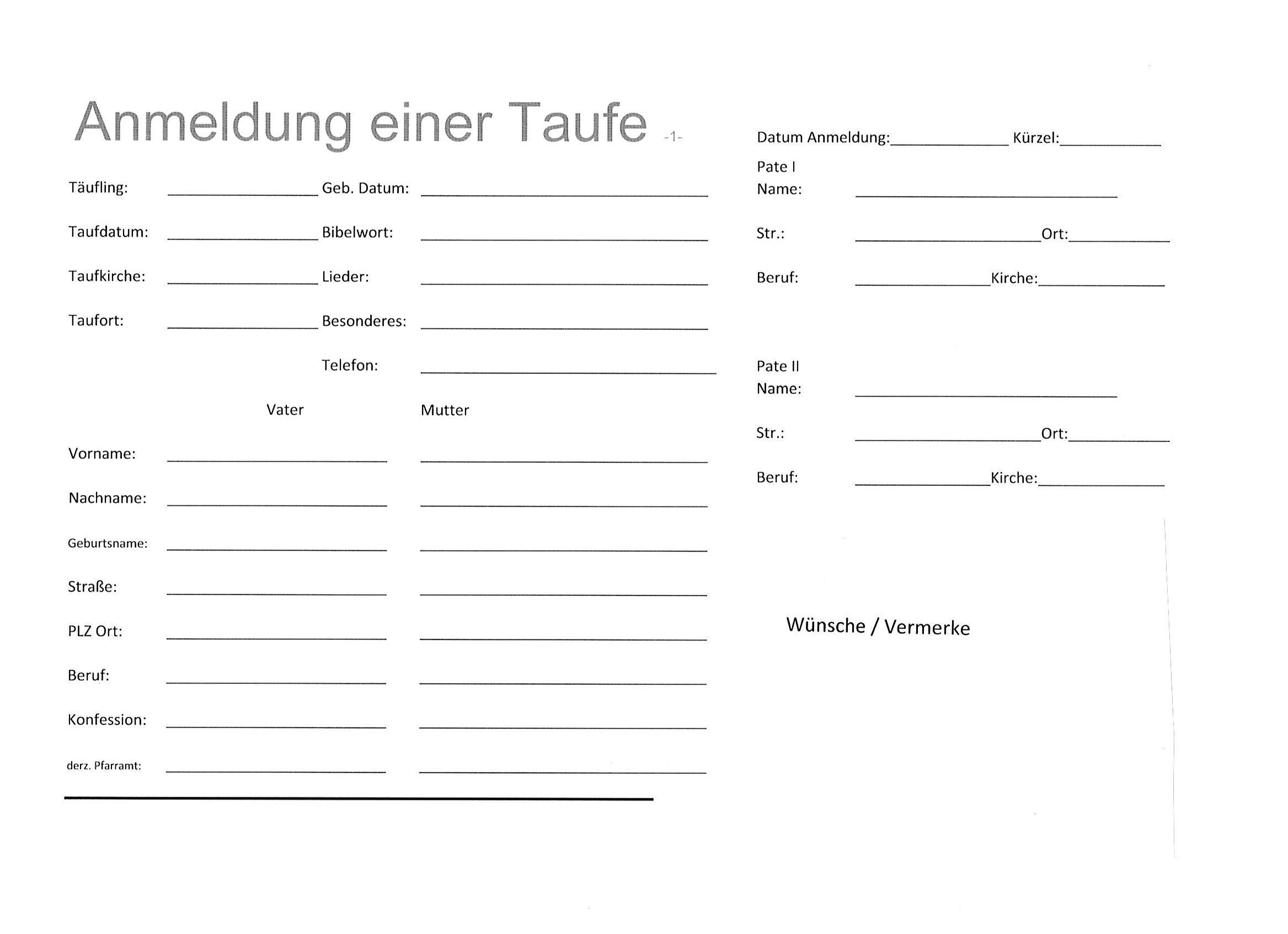 Ev Luth Kirchengemeinde Paul Gerhardt Taufe