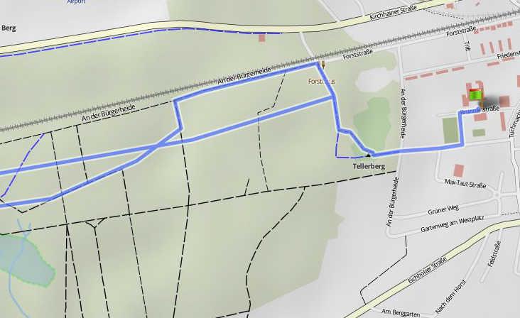 Radstrecke 20km