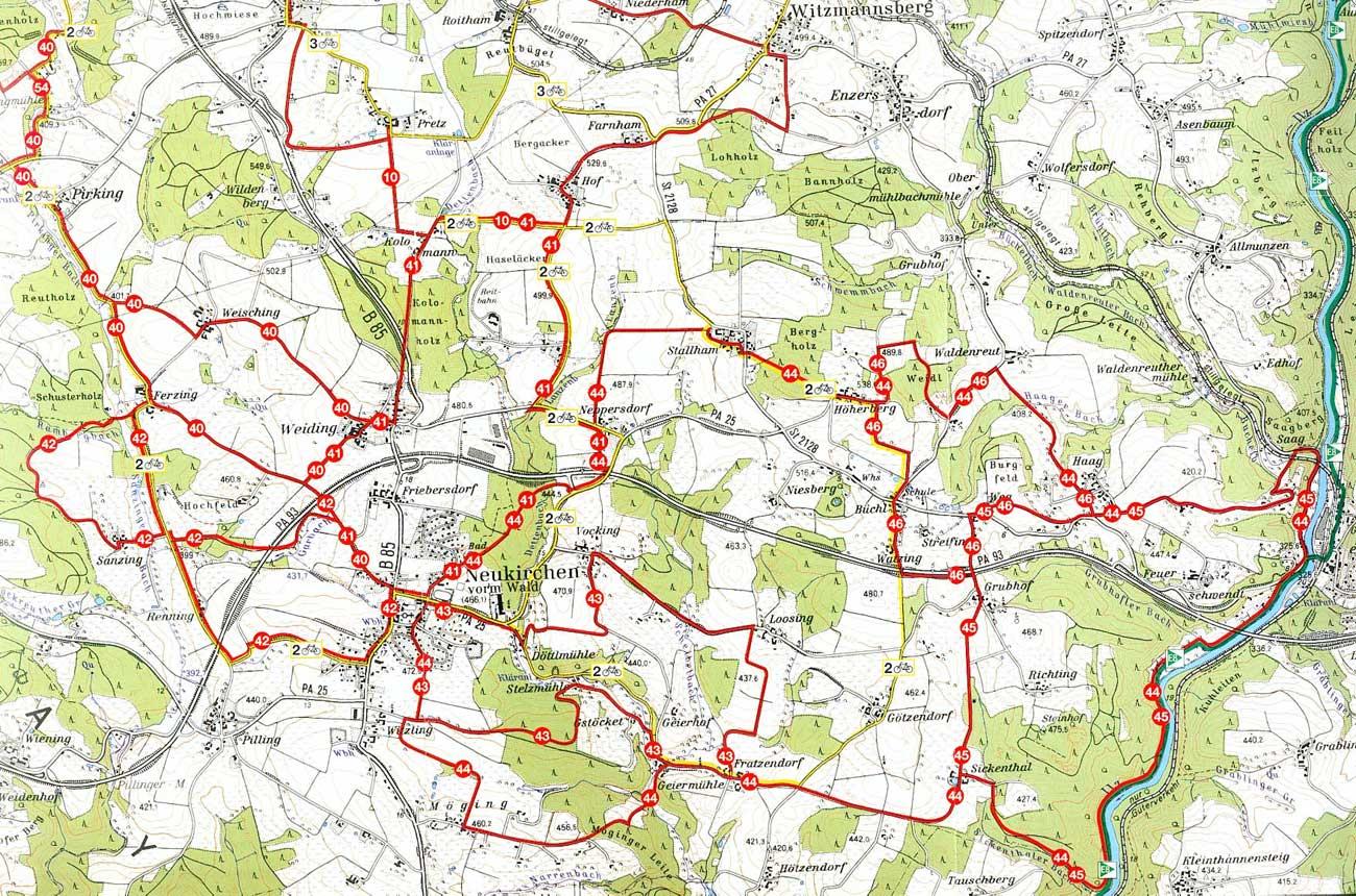 Wanderwege Deutschland Karte.Gemeinde Neukirchen Vorm Wald Wandern