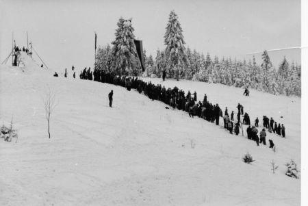 Alte Sprungschanze vor 1953 in Tettau