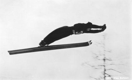 Max Bolkert Sprung auf Wildbergschanze 65m 1957