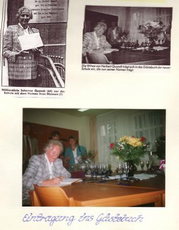 Eintrag ins Gästebuch 1994