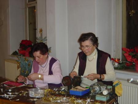 Sterneproduktion mit Frau Wiegärtner
