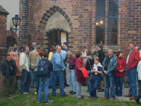 Besucher vom Museum