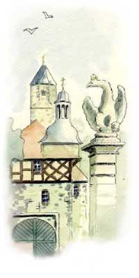Burg Gemälde