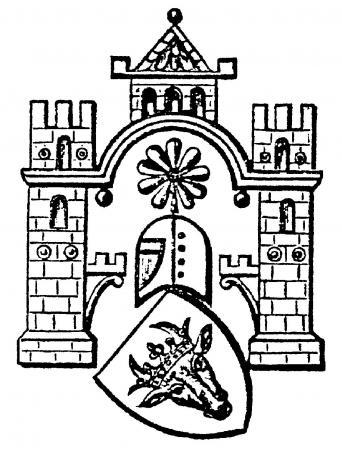 Wappen auf dem Neukalener Wochenblatt