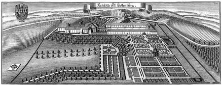 Residenz Alt-Ortenburg , Stich von Michael Wenig