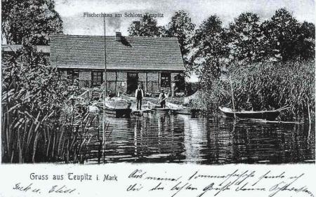 Postkarte Fischerhaus um 1907