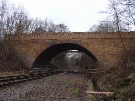 Brücke über die DB AG in Seelow