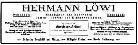 Annonce Löwi 1926