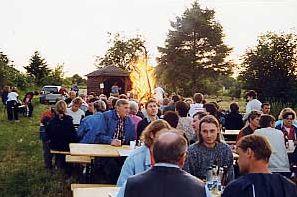 Grillfest am Ökoteich