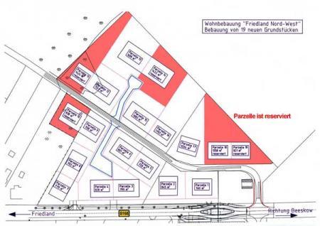 Lageplan Wohnbebauung Nord West