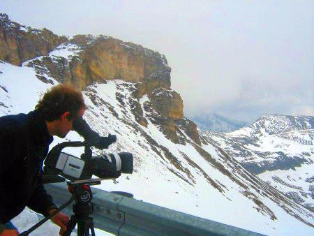 Filmproduktion in den Bergen