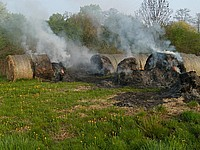 Brennende Heuballen