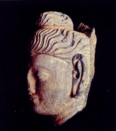 Buddhakopf  Seitenansicht  Hadda  Afgh.
