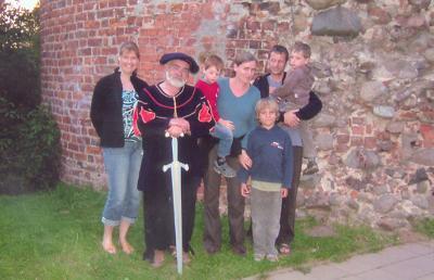 Burgvogt und seine Gäste
