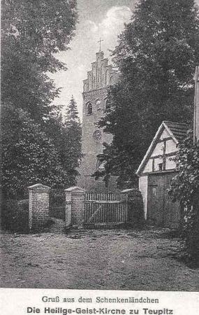 Postkarte Heilig-Geist-Kirche 1928