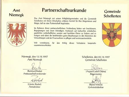 Partnerschaftsurkunde