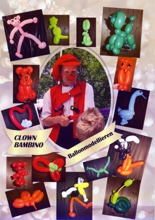 Clown Bambino modellierte Ballons - 1A-PartyExpress