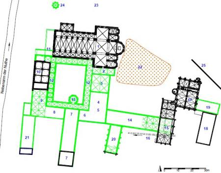 Plan Klausur Kloster Zinna