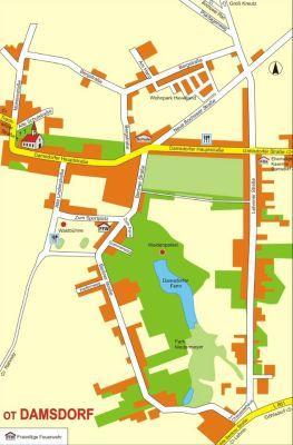 Ortsplan Damsdorf - klein