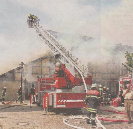 Templin, Brand mitten in der Altstadt