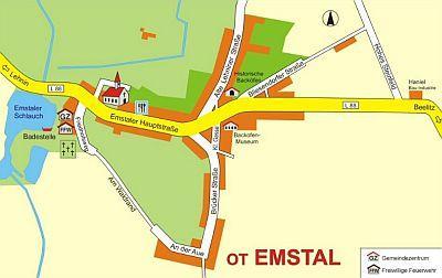 Ortsplan Emstal