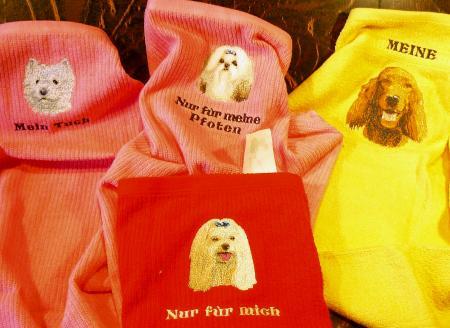 Tierbilder auf Handtücher