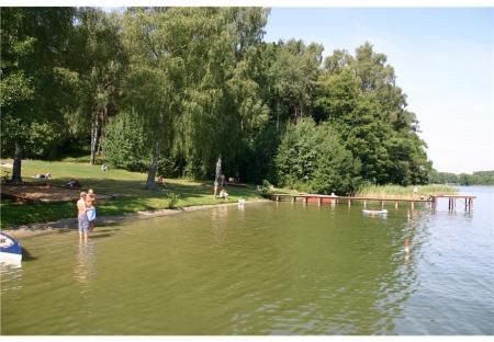 Badestelle am Großen Zechliner See