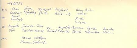 Rückseite Klasse 8, 1958,59