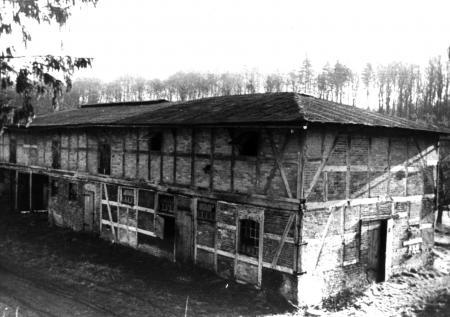 Stallgebäude in Franzensberg um 1958