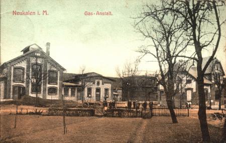 Gasanstalt Ansichtskarte von 1906/1907