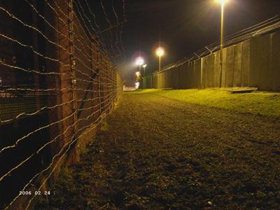 Grenzdenkmal Hötensleben bei Nacht