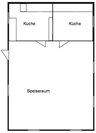 Grundriss Küche und Speisebungalow