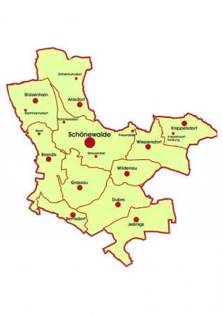Karte amtsfreie Stadt