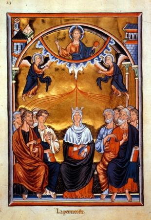 Pfingstdarstellung im Ingeborg-Psalter