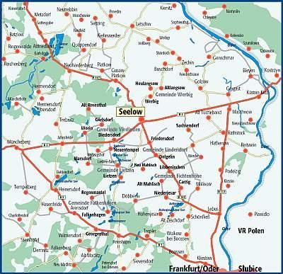 Karte Amt Seelow-Land