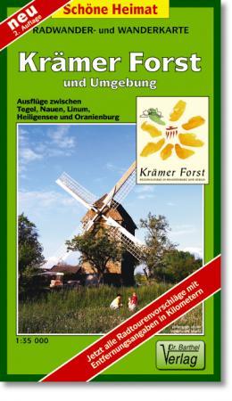 Rad- Wanderkarte Krämer Forst