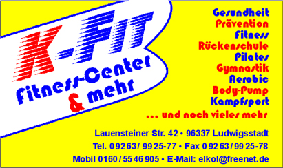 Sponsoren - K-Fit Fittnes Center & mehr