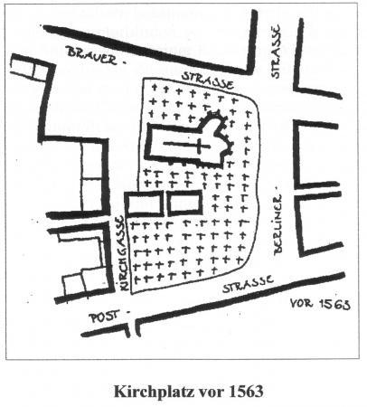 Kirchplatz vor 1563