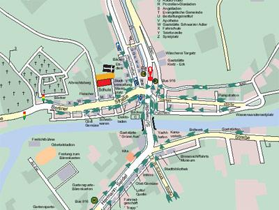 Karte zur Schule