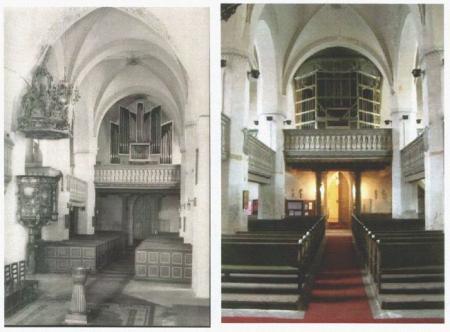 Orgel- und Chorempore