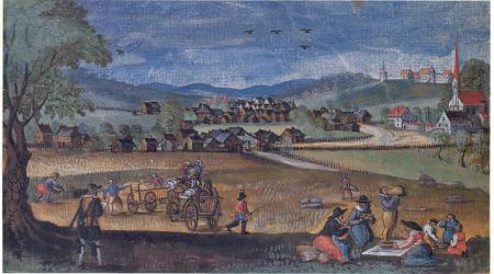 Ortenburg 1620 , Aquarell von Graf Casimir