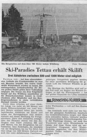 Ski-Paradies Tettau erhält Skilift
