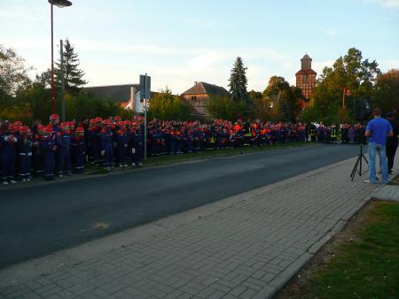 Nachtwanderung der Jugendfeuerwehren des Landkreises Uckermark am 26.09.2008 in Schönwerder