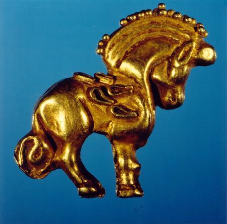 Pferd Alexanders in Gold
