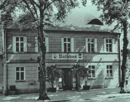 Rathaus Postkarte 1964