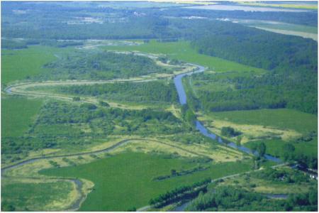 Recknitz nördlich der Recknitzbrücke Marlow