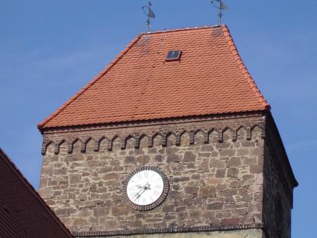Neue Kirchturmuhr