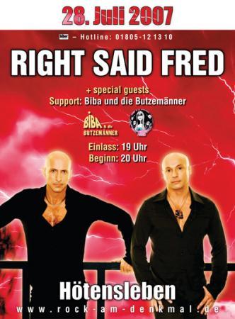 Promotionplakat für Rock am Denkmal 2007